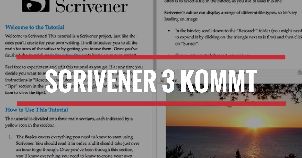 Scrivener 3 kommt
