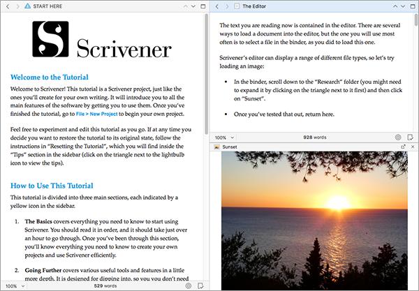 Scrivener 3 deutsch für Mac und Windows